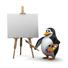 Penguin painter