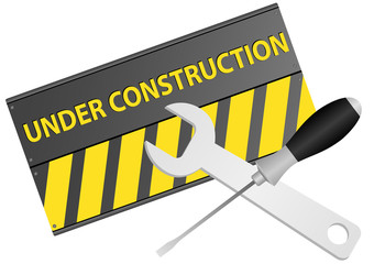 Illustration of under construction sign