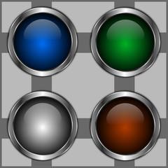 icones boutons colorés