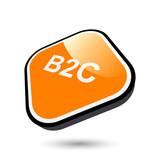 B2C business customer symbol zeichen poster