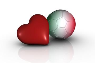 cuore calcio e italia