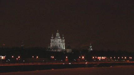 Smolny cathedral in St-Petersburg