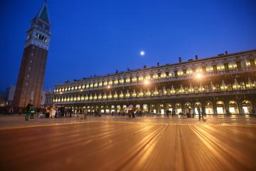 St Mark's Square at night