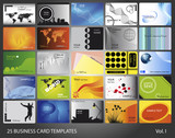 25 business card templates. Volumen I