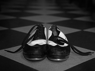 Tap dance shoes on tile