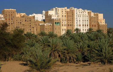 Die Stadt Shibam im Wadi Hadraumat