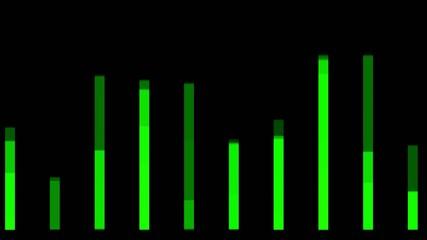 green background equalizer,seamless loop,def