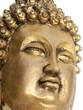 bouddha doré fond blanc