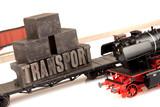 Transport On train poster