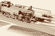 Retro Locomotive model