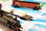 Locomotive transport concept poster