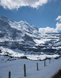 Swiss Alps winter scenery
