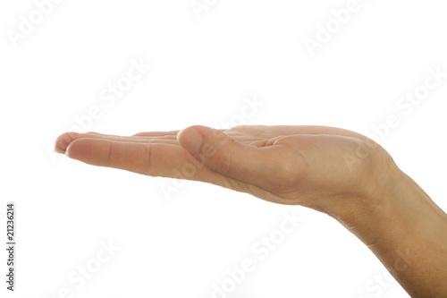 Handfläche - präsentieren
