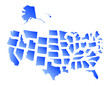united states of america state maps set