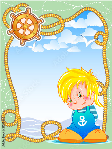 frame with little sailor