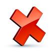 icône croix rouge annulation