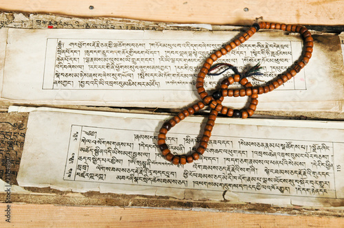 Foto Spatwand India Old Religious Text