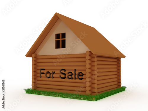House for sale with grass around