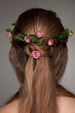 beautiful hairdo with rosses