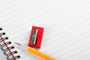 Yellow Pencil Red Sharpener