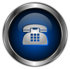 icones boutons téléphone bleu
