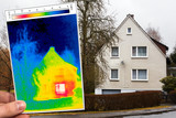 detached house and thermography poster