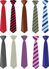 Colored ties illustration