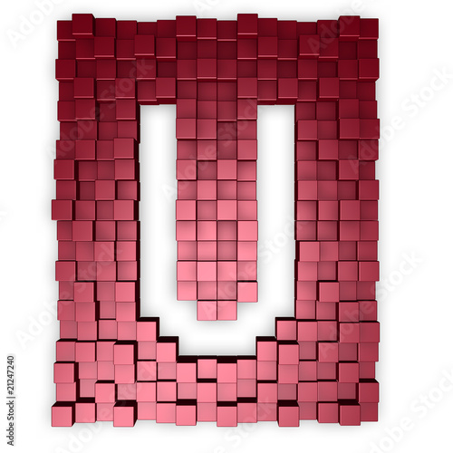 cubes makes the letter u