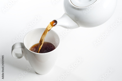 Cup of tea being poured