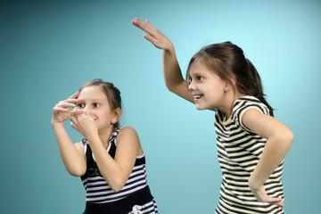 white twins having fun