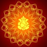 Lord Ganesha on Mandala Background poster
