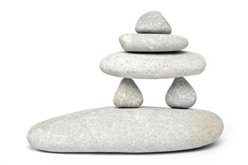 Stack of balanced Zen stones