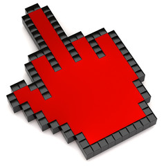 red middle finger cursor