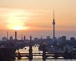 Fototapeten,berlin,silhouette,sonnenuntergang,abend