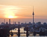 Fototapety View over Berlin in the sunset