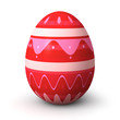 Strawberry pattern easter egg