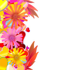 Abstract creative flower background. Vector.