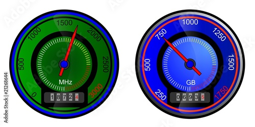 speedometer, isolated