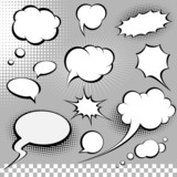Fototapety comic speech bubbles