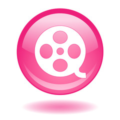 CINEMA round web button (review film online culture arts)
