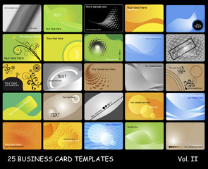 25 business card templates. Volumen II