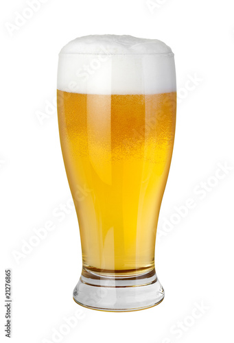 Fotobehang Bier Beer Glass