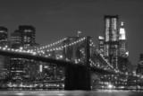 Brooklyn Bridge and Manhattan Skyline At Night - 21277462