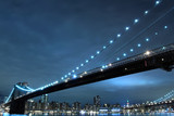 Brooklyn Bridge and Manhattan Skyline At Night - 21277473