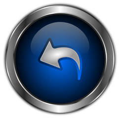 icones boutons flèche bleu