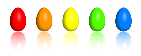 Rainbow Easter Eggs