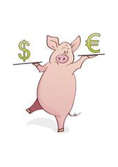 funny piggy-bank