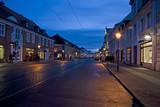 Nachtaufnahme der Friedrich-Ebert-Str. in Potsdam poster