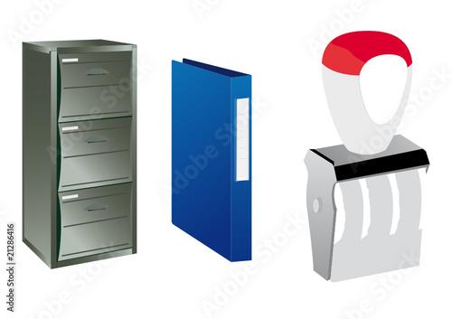 Accesorios oficina de rubrick vector libre de derechos - Accesorios oficina ...