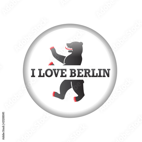 love berlin city vector pin button